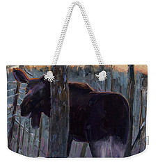 Weekender Tote Bag featuring the painting The Shy One by Billie Colson