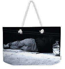 Weekender Tote Bag featuring the photograph The Sidewalks Of New York by RC deWinter