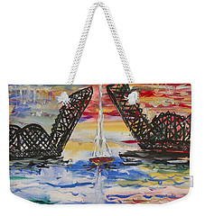 The Signature Bridge Weekender Tote Bag by Andrew J Andropolis