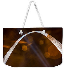 The Silver Gateway Arch Weekender Tote Bag by Semmick Photo