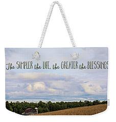 The Simpler Life Weekender Tote Bag