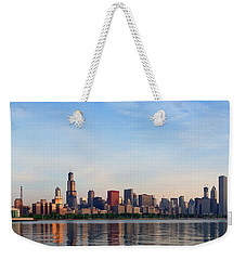 The Skyline Of Chicago At Sunrise Weekender Tote Bag