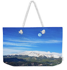 The Skyscraper That Towers Over My Hometown Reaches The Clouds At 14115 Feet Above Sea Level.  Weekender Tote Bag