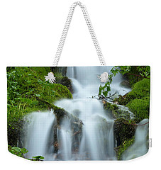 Weekender Tote Bag featuring the photograph The Slithering Mist by DeeLon Merritt
