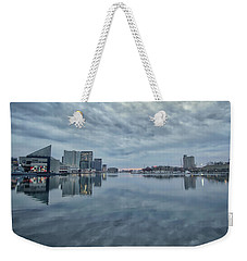 Weekender Tote Bag featuring the photograph The Sliver Of Sunrise by Mark Dodd