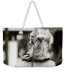 Weekender Tote Bag featuring the photograph The Smell Of Your Hair by Empty Wall