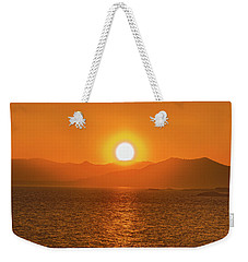 The Smoke From A Forest Fire Gave Us This Tangerine Sky Over 11-mile Reservoir State Park, Colorado. Weekender Tote Bag