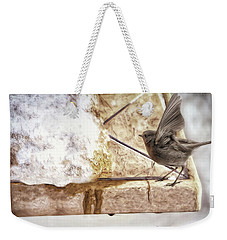 Weekender Tote Bag featuring the photograph The Snow Melts by Pennie  McCracken