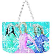 The Snowflake Ladies Weekender Tote Bag