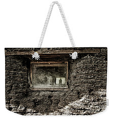 Weekender Tote Bag featuring the photograph The Sod House by Brad Allen Fine Art