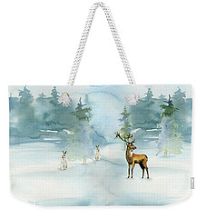 The Soft Arrival Of Winter Weekender Tote Bag