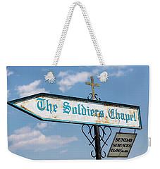 The Soldiers Chapel Sign Weekender Tote Bag