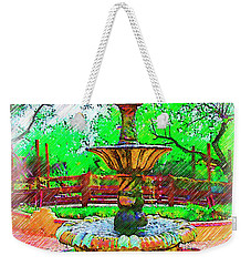 The Spanish Courtyard Fountain Weekender Tote Bag