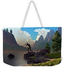 The Spear Fisher Weekender Tote Bag by Daniel Eskridge