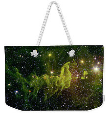 Weekender Tote Bag featuring the photograph The Spider And The Fly Nebula by NASA JPL - Caltech