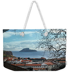 Weekender Tote Bag featuring the photograph The Split Rock Of Terceira by Kelly Hazel