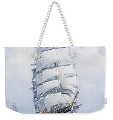 The Square-rigged Clipper Argonaut Under Full Sail Weekender Tote Bag