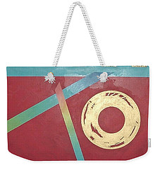 Weekender Tote Bag featuring the painting The Square Wheels Of Progress by Bernard Goodman