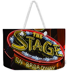 The Stage On Broadway Weekender Tote Bag by Stephen Stookey