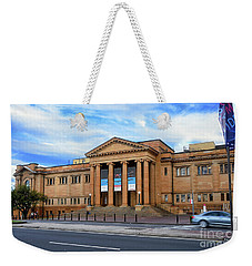 Weekender Tote Bag featuring the photograph The State Library Of New South Wales By Kaye Menner by Kaye Menner