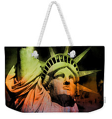 The Statue Of Liberty Weekender Tote Bag by Kim Gauge