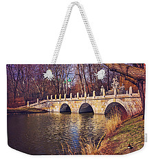 Weekender Tote Bag featuring the photograph The Stone Bridge In Lazienki Park Warsaw  by Carol Japp