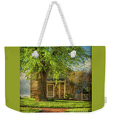 Weekender Tote Bag featuring the photograph The Stone Cottage On A Spring Evening by Lois Bryan