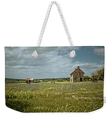 Weekender Tote Bag featuring the photograph The Stone House by Linda Unger