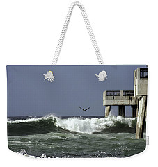 Weekender Tote Bag featuring the photograph The Storm  by Debra Forand