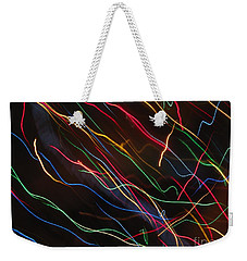 Weekender Tote Bag featuring the photograph The Storm Of Falling Stars. Dancing Lights Series by Ausra Huntington nee Paulauskaite