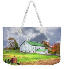 Weekender Tote Bag featuring the digital art The Storms Coming by Sharon Batdorf
