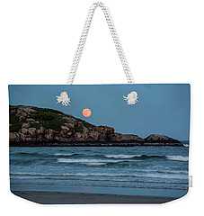 The Strawberry Moon Rising Over Good Harbor Beach Gloucester Ma Island Weekender Tote Bag