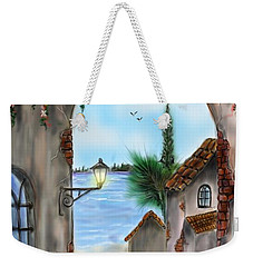 Weekender Tote Bag featuring the digital art The Street by Darren Cannell