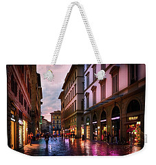 The Streets Of Florence Weekender Tote Bag