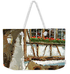 Weekender Tote Bag featuring the painting The Streets Of Strasbourg by Dmitry Spiros