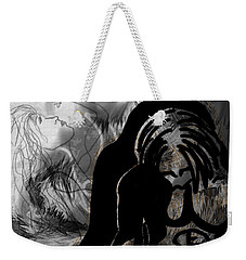 Weekender Tote Bag featuring the drawing The Struggle Within by Sheila Mcdonald