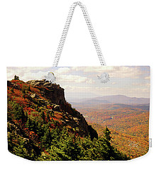Weekender Tote Bag featuring the photograph The Summit In Fall by Meta Gatschenberger