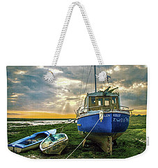 Weekender Tote Bag featuring the photograph The Sun Sets On The Ellen Kelly by Brian Tarr