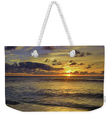 Weekender Tote Bag featuring the photograph The Sun Sets Softly In Molokai by Tara Turner