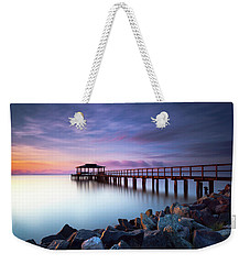 Weekender Tote Bag featuring the photograph The Sun Watcher by Edward Kreis