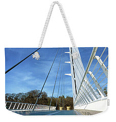 Weekender Tote Bag featuring the photograph The Sundial Bridge by James Eddy
