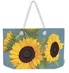 Weekender Tote Bag featuring the digital art The Sunflowers by I'ina Van Lawick