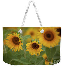 The Sunflowers In The Field Weekender Tote Bag