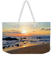 The Sunset Of Maui Weekender Tote Bag by Michael Rucker