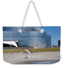 Weekender Tote Bag featuring the photograph The Surfer by Allen Beilschmidt
