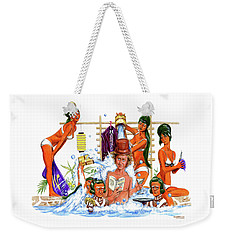 The Suspense Is Terrible I Hope It Lasts Weekender Tote Bag by Mark Tavares