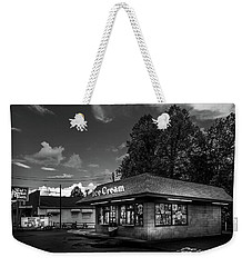 The Sweet Tooth In Black And White Weekender Tote Bag