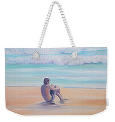 The Swimmer Weekender Tote Bag by Elizabeth Lock