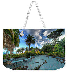 Weekender Tote Bag featuring the photograph The Swimming Pool Of The Former Summer Vacation Building - La Piscina Dell'ex Colonia Marina by Enrico Pelos
