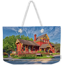 Weekender Tote Bag featuring the photograph The Sykesville B And O Train Station by Mark Dodd